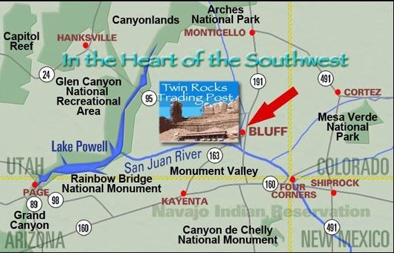 Twin Rocks in the the center of all there is to see in the heart of the Southwestern US